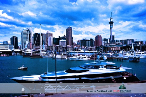 Auckland City with boats in the harbour - Titan Property