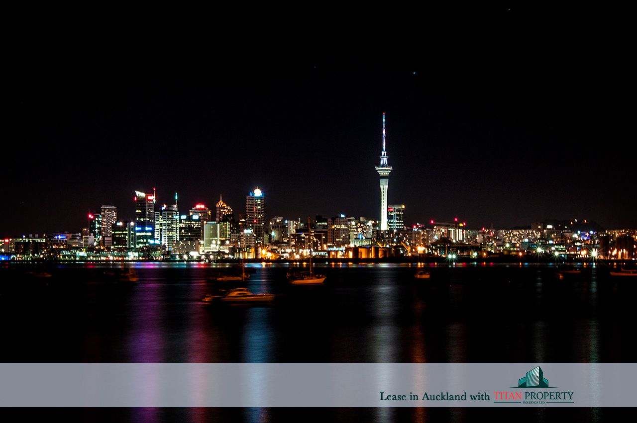 Night skyline, Sky Tower, Auckland - Titan Property